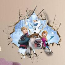"""Seinakleebis """"Anna, Olaf, Kristoff & Sven"""""""