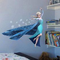 """Seinakleebis """"Elsa ja lumehelbed"""""""