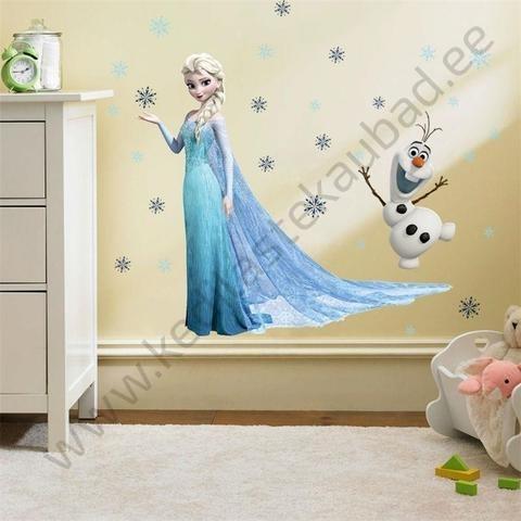 "Seinakleebis ""Elsa & Olaf"""