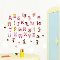 "Seinakleebis ""Mickey & Minnie tähestik"""