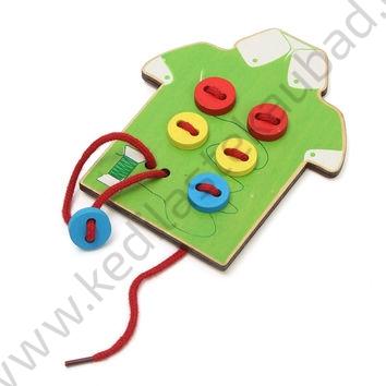 Puidust nööbimäng, õpetab käte motoorikat 2