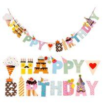 """Riputatav kaunistusriba """"Happy Birthday"""""""