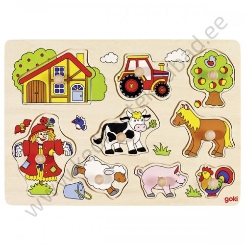 """Goki puidust nupupusle """"Farm 1"""""""
