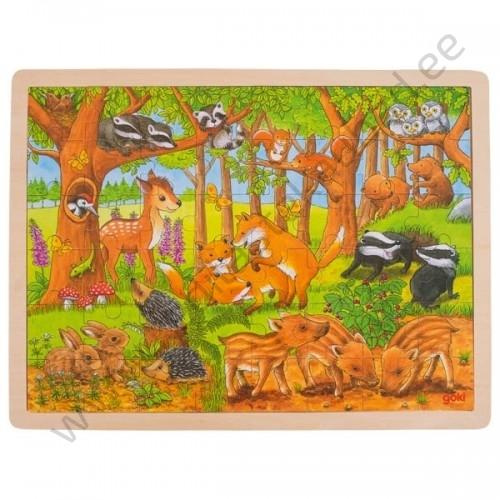 """Goki puidust pusle """"Metsloomad"""""""