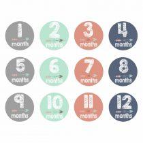 """Erivärvilised kleebised """"12 kuud"""""""