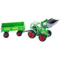 Wader traktor laaduri ja suure käruga