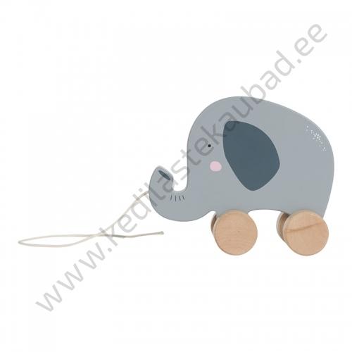Little Dutch puidust elevant- nöörist tõmmatav