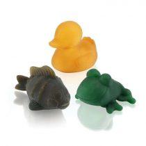 Hevea värvilised looduslikust kummist vannimänguasjad – Alfie, Fred ja Polly