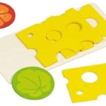 Goki puidust juustuviilud lõikelauaga