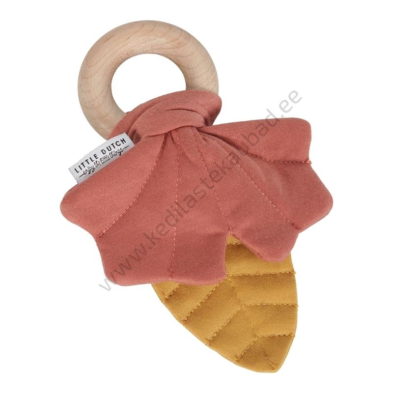"Little Dutch krabisev rõngaga leheke ""Pure & Nature"" kollane/roosa"