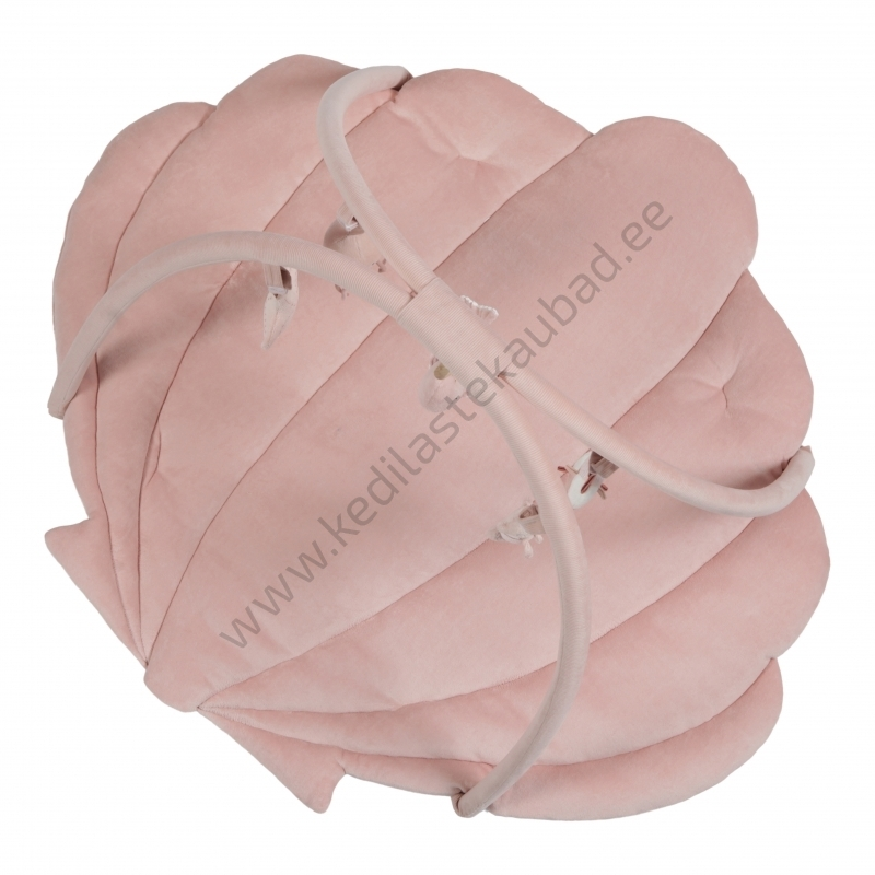 LD4845 Little Dutch Pehme mängumatt-lamamismatt rippuvate leludega ocean pink-2