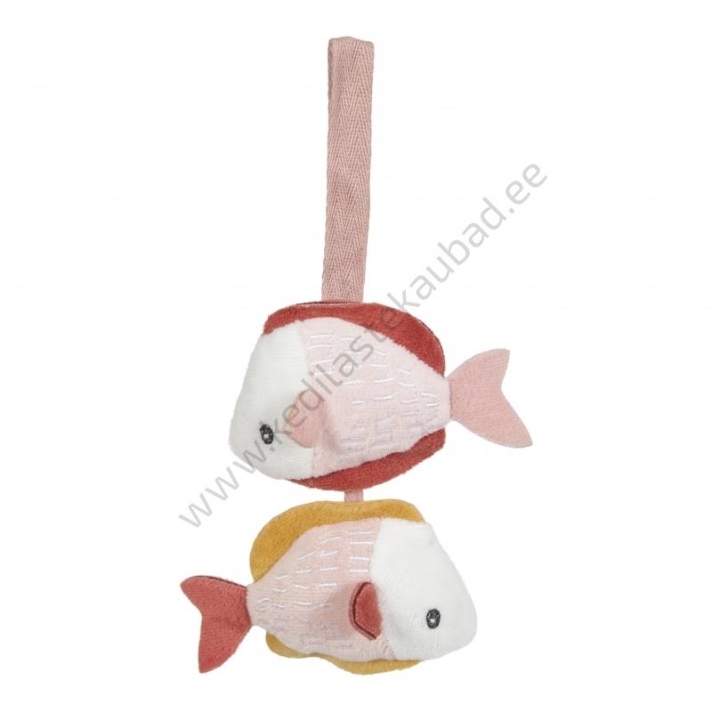 LD4845 Little Dutch Pehme mängumatt-lamamismatt rippuvate leludega ocean pink-4