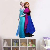 """Seinakleebis """"Elsa ja Anna kõrvuti"""""""