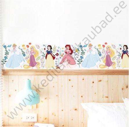 """Seinakleebis """"Disney printsessid lilledega"""""""