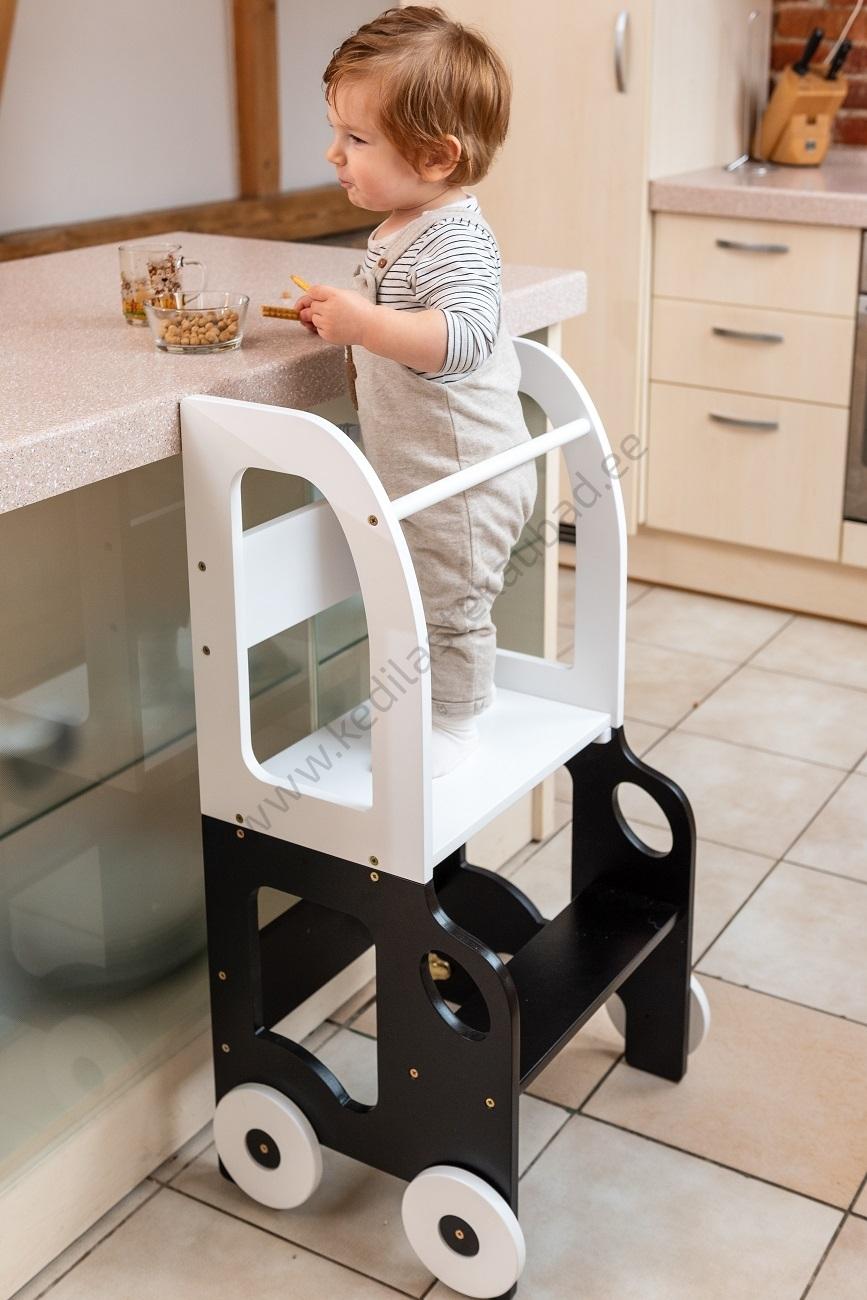 """Laste köögitorn-laud ja tool """"Auto"""" (värvivalik)"""