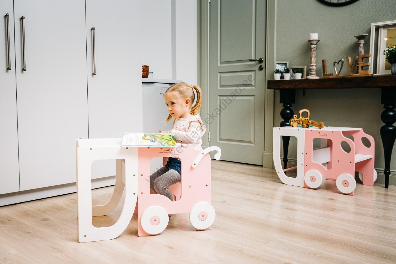 Laste köögitorn-laud ja tool Käru-1