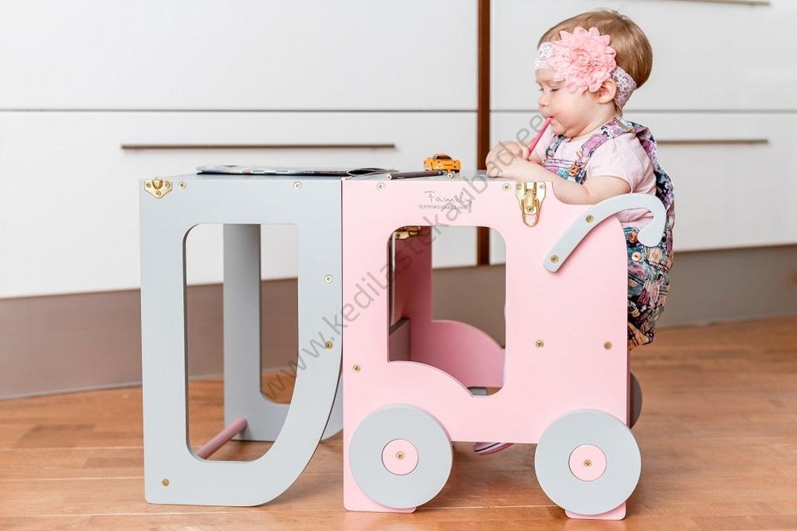 Laste köögitorn-laud ja tool Käru-11