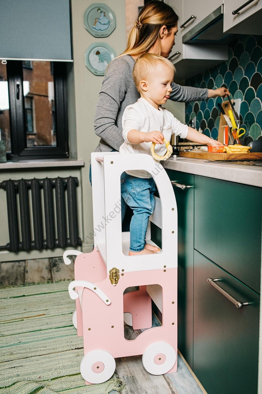 Laste köögitorn-laud ja tool Käru-2