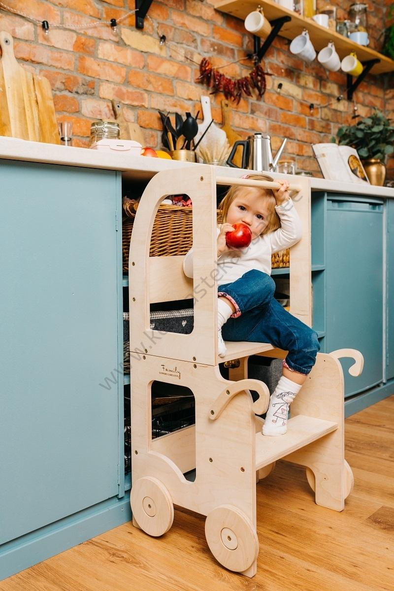 Laste köögitorn-laud ja tool Käru-3