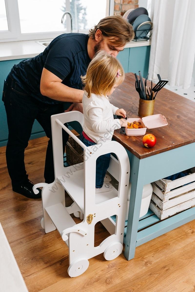 Laste köögitorn-laud ja tool Käru-4