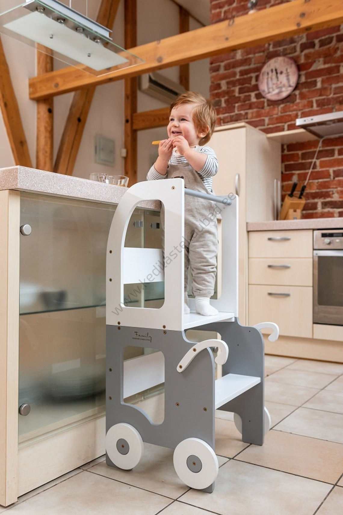 Laste köögitorn-laud ja tool Käru-5