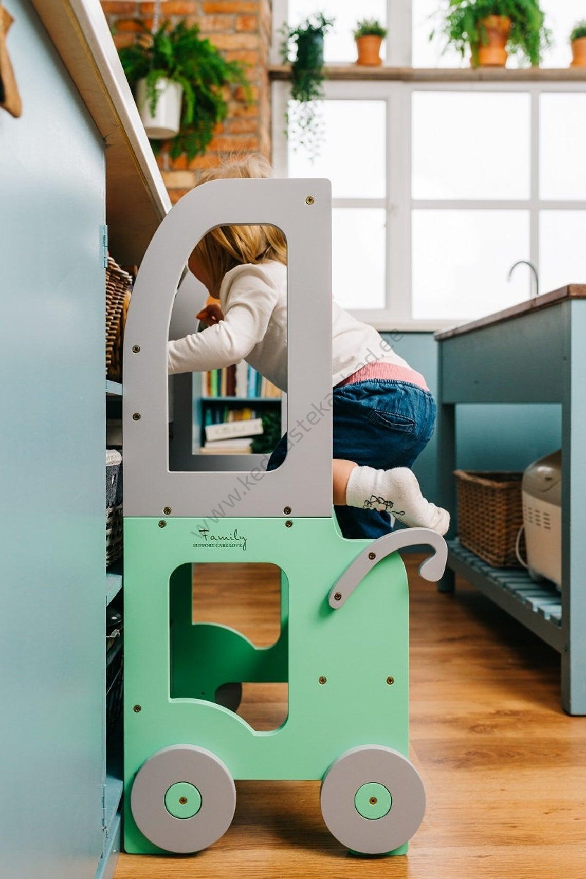 Laste köögitorn-laud ja tool Käru-9