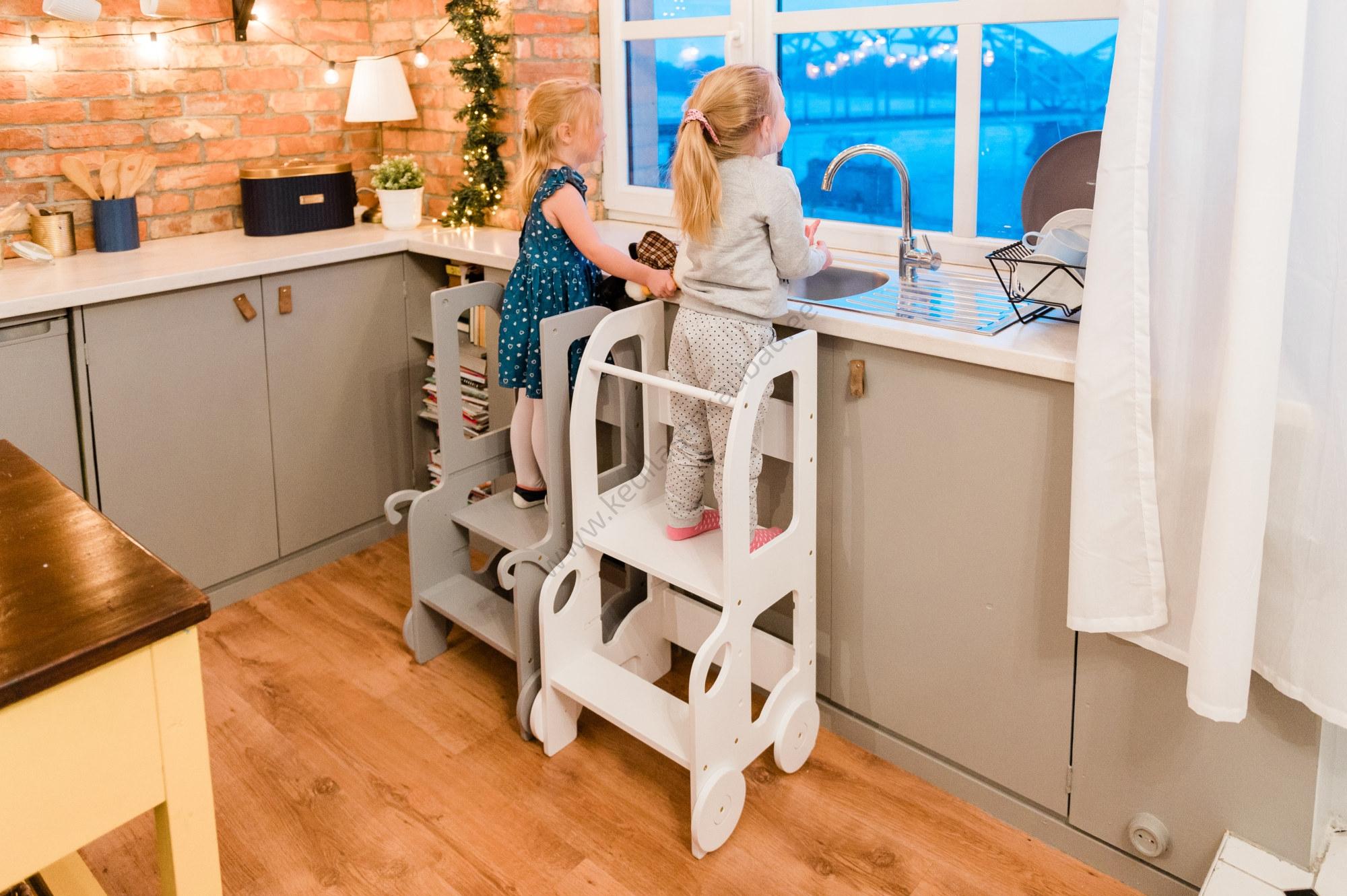 Laste köögitorn-pukk reguleeritava kõrgusega-14