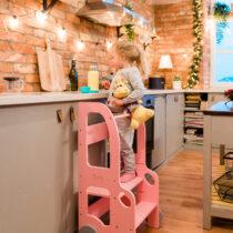 """Laste köögitorn-pukk reguleeritava kõrgusega """"Auto"""" (värvivalik)"""