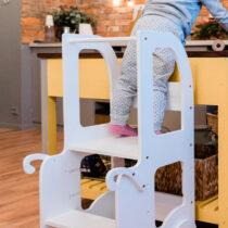 """Laste köögitorn-pukk reguleeritava kõrgusega """"Käru"""" (värvivalik)"""