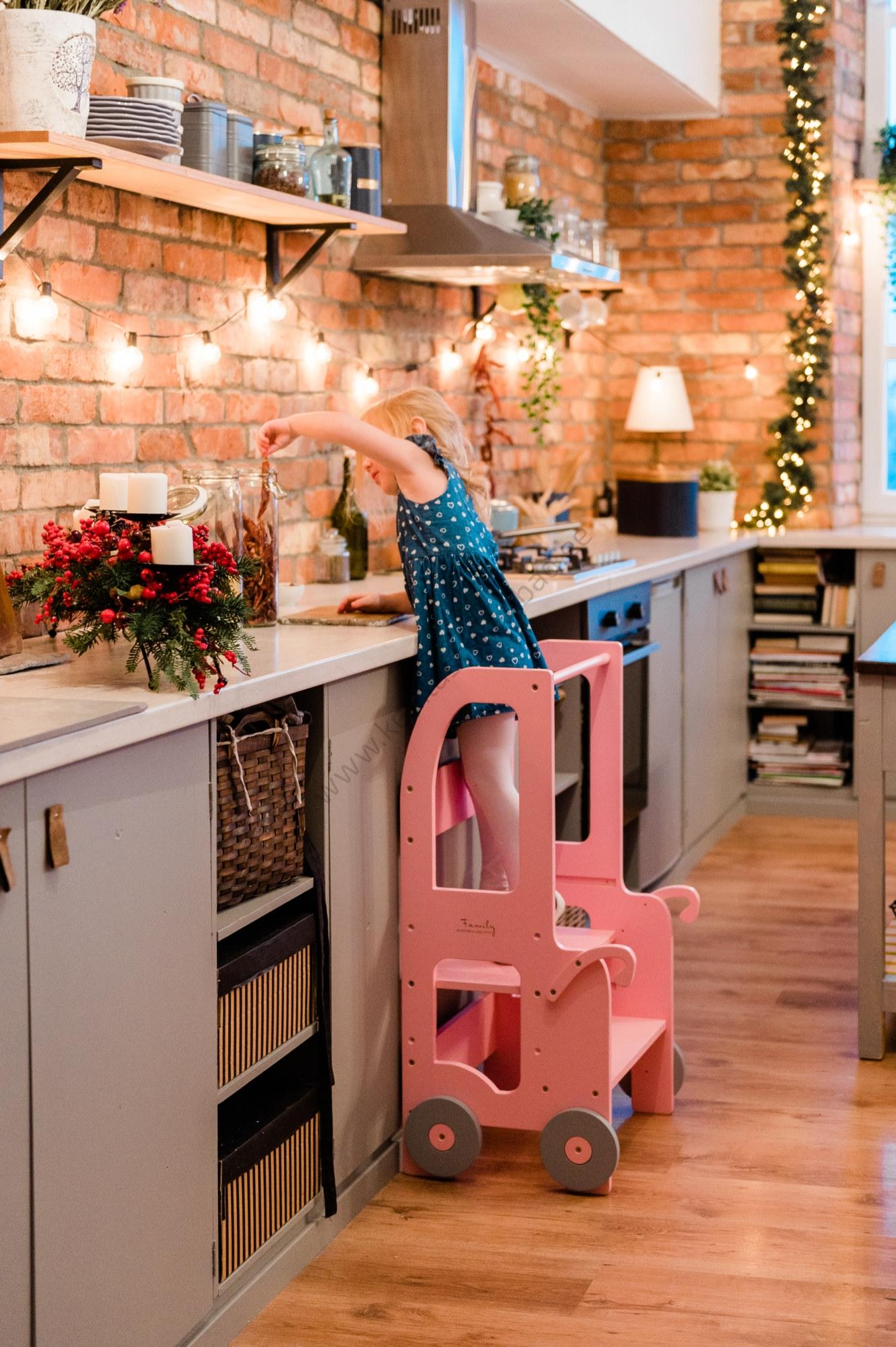 Laste köögitorn-pukk reguleeritava kõrgusega-21