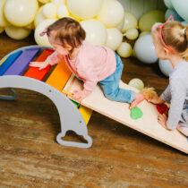 Laste kiiga-kaaga põrandakiige ronimissein (värvivalik)